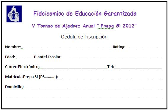 formulario inscripcion jugador:
